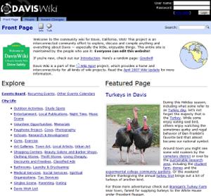 DavisWiki - Image: Davis wiki screenshot
