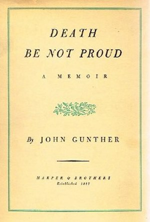 Death Be Not Proud (book) - First edition (publ. Harper & Brothers)