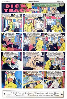 <i>Dick Tracy</i> Comic strip featuring Dick Tracy