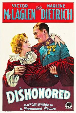 Dishonored (film) - Original American film poster