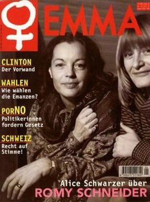 EMMA (magazine) - September 1998 cover: Romy Schneider, Alice Schwarzer