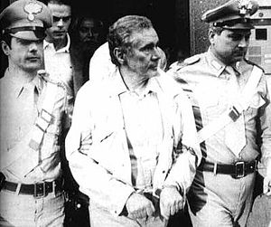 Enzo Tortora - Tortora being led by the carabinieri during his 1983 arrest.