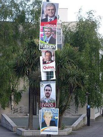 2009 Irish local elections - Posters for local and European election candidates and parties, Dublin, May 2009