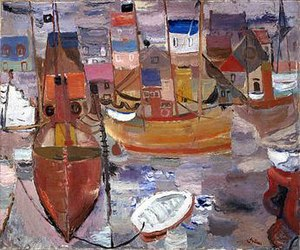 William George Gillies - The harbour, 1934, National Gallery of Scotland.