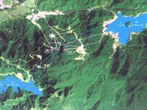 Guangdong Pumped Storage Power Station - Overview rendition of the PSPS
