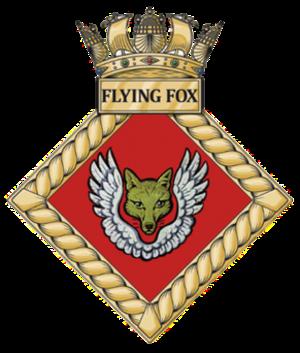 HMS Flying Fox (shore establishment) - Image: HMS Flying Fox badge