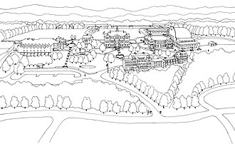 Hopkins School - A map of the campus as of 2006, with Forest Road horizontally along the bottom of the map