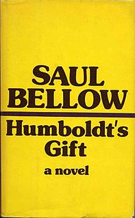 <i>Humboldts Gift</i> book by Saul Bellow