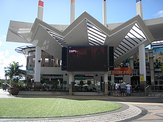 Logan Hyperdome - Big screen at the Hyperdome Piazza