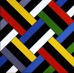Ian Scott (artist) - Ian Scott. Lattice No.58, 1979. Acrylic on canvas, 1727 x 1730 mm. Museum of New Zealand Te Papa Tongarewa, purchased 1980