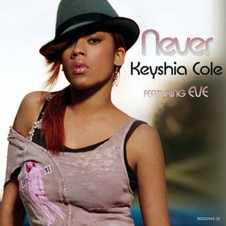 Never (Keyshia Cole song) - Image: KEYSHIA COLE never