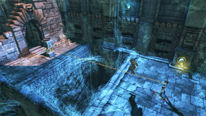 Lara Croft and the Guardian of Light - Guardian of Light is played from a fixed perspective, similar to classic two dimensional isometric games.