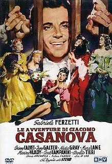 <i>Le avventure di Giacomo Casanova</i> 1954 film by Stefano Vanzina