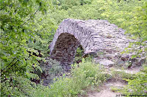 Kaspi Municipality - Medieval bridge at Rkoni Monastery