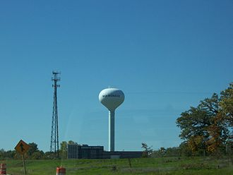 Mukwonago, Wisconsin - Mukwonago water tower