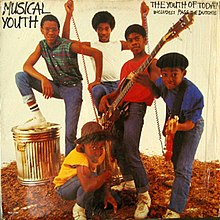 Musical Youth on the cover of their debut LP