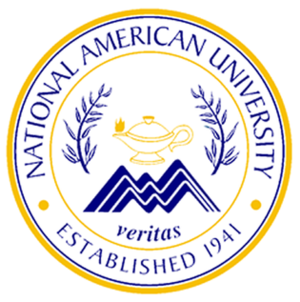National American University - Image: National American University seal gold