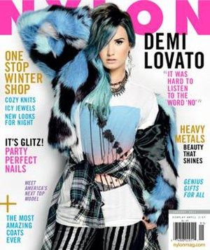 Nylon (magazine) - December 2013/January 2014 cover featuring Demi Lovato