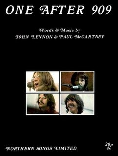 One After 909 Original song written and composed by Lennon-McCartney