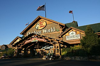 Bass Pro Shops - Main entrance to the Bass Pro Shops Outdoor World in Springfield, Missouri
