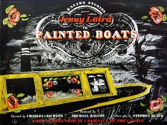 Painted Boats - Original UK quad format film poster by John Piper.