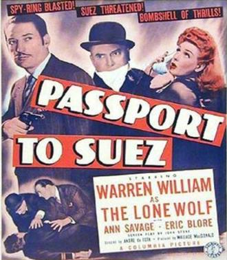 Passport to Suez - Theatrical film poster