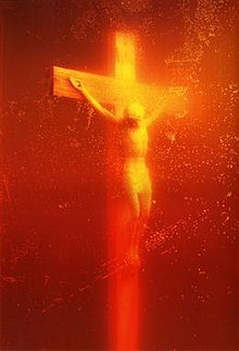 Image result for Art exhibit-Piss Christ