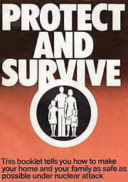 "The front cover text reads: ""This booklet tells you how to make your home and your family as safe as possible under nuclear attack""."