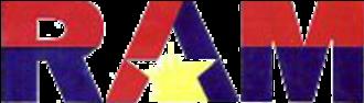 1990 Hotel Delfino siege - Image: Reform the Armed Forces Movement logo circa 1990s