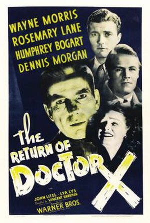 The Return of Doctor X - Theatrical release poster