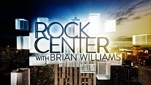 Rock Center with Brian Williams - Image: Rock Center With Brian Williams Logo
