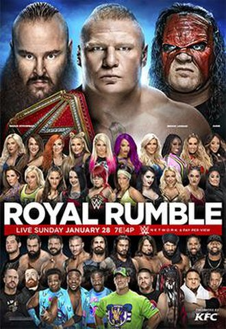 Royal Rumble (2018) - Promotional poster featuring various WWE wrestlers