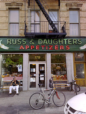 Appetizing store - Russ & Daughters, an appetizing store in New York's Lower East Side.
