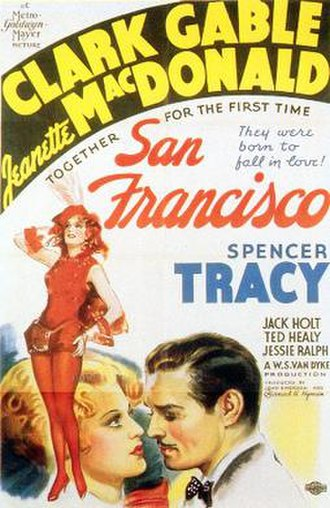 San Francisco (1936 film) - Original Film Poster