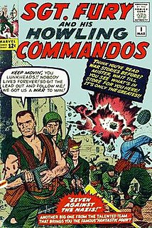 <i>Sgt. Fury and his Howling Commandos</i> comic book by Gary Friedrich