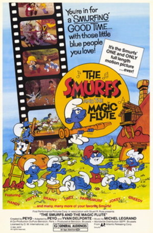 The Smurfs and the Magic Flute - North American theatrical release poster