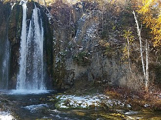 Spearfish Canyon - Spearfish Falls in Spearfish Canyon