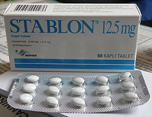 Tianeptine - Stablon box and blister pack.