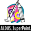 Aldus SuperPaint with icon of paintbrush and pencil