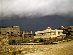 Supercell Thunderstorm in Larkana, Pakistan