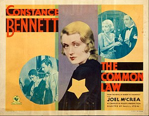 The Common Law (film) - Theatrical poster of film