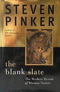 <i>The Blank Slate</i> book by Steven Pinker
