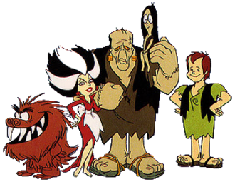 The Frankenstones - From left to right: Rockjaw, Hidea, Frank, Atrocia and Freaky