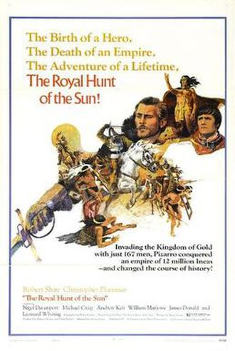 The Royal Hunt of the Sun (film) - Theatrical Release poster by Howard Rogers