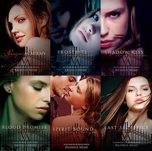 Vampire Academy - The covers of the six books.