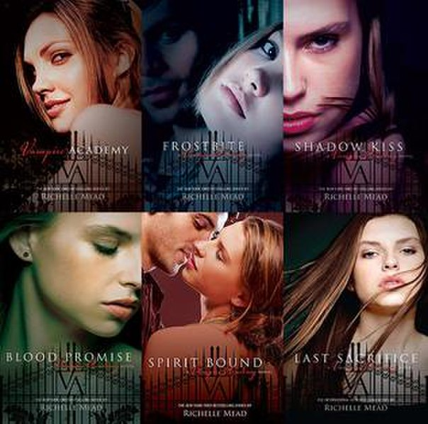 File:The covers of the six Vampire Academy books.jpg
