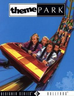 <i>Theme Park</i> (video game) 1994 construction and management simulation game