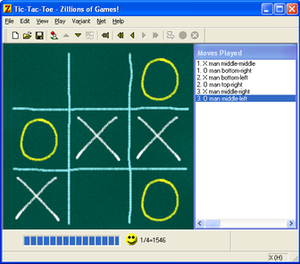 Zillions of Games - Playing Tic-Tac-Toe in Zillions-of-Games.