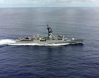 USS Ouellet - Ouellet underway in 1987