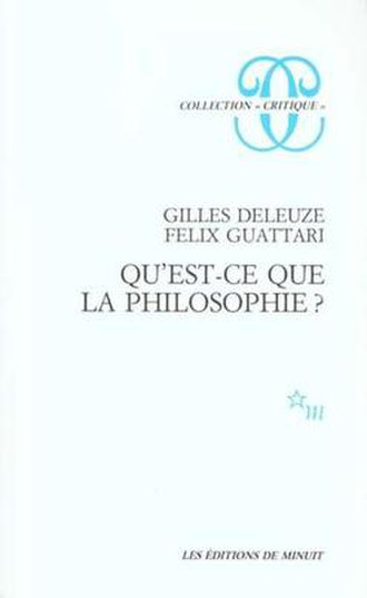 What is Philosophy? (Deleuze and Guattari) - Cover of the first edition